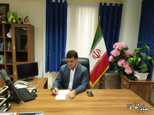فرماندار شهرستان کلاله به مناسبت هفته هلال احمر پیامی صادر کرد