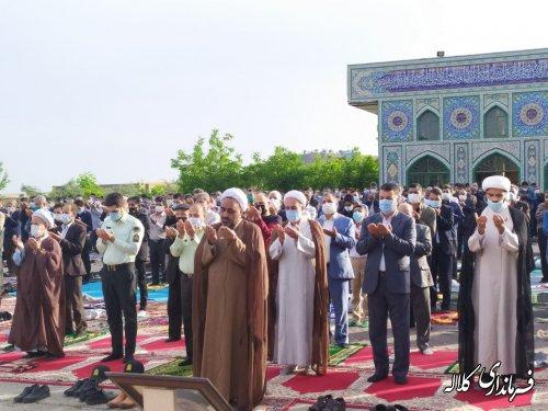 نماز عید سعید فطر در شهرستان کلاله اقامه شد