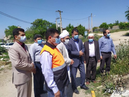 بازدید فرماندار کلاله از پل ارتباطی دهستان آقسو