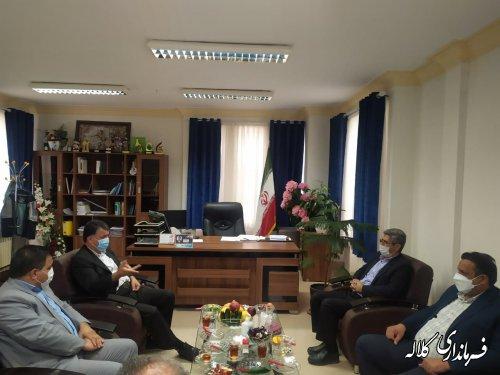 دیدار مدیرکل تامین اجتماعی استان با فرماندار کلاله