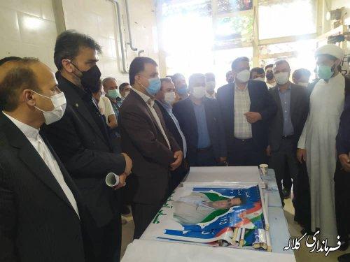 بازدید فرماندارکلاله از ستادهای تبلیغاتی نامزدهای شورای اسلامی شهر و ریاست جمهوری