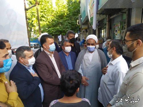 بازدید فرماندار کلاله از ستادهای تبلیغاتی نامزدهای شورای اسلامی شهر و ریاست جمهوری