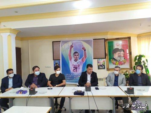 تجلیل از آرمان صالحی عضو تیم ملی والیبال کشورمان در کلاله