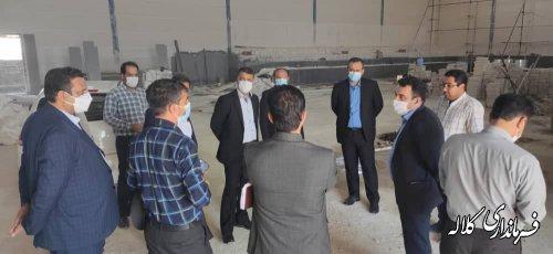 بازدید فرماندار کلاله از روند ساخت سالن ورزشی روستای قوجمز