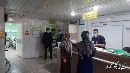 آمار بیماران کرونایی در بیمارستان رسول اکرم ص کلاله رو به افزایش است