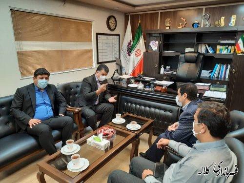 دیدار فرماندار کلاله با مدیر عامل جدید شهرک های صنعتی استان