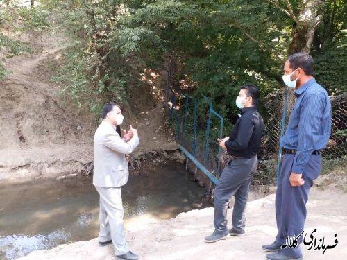 بازدید میدانی فرماندار کلاله از چشمه آقسو