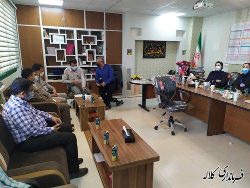 دیدار فرماندارکلاله با پزشکان بیمارستان رسول اکرم (ص)