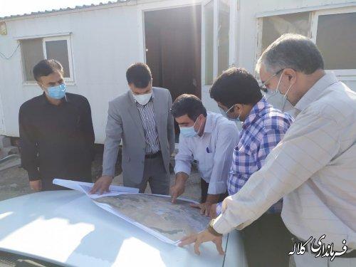 عملیات احداث مخزن آب ۲۰۰۰ متر مکعبی در شهر کلاله آغاز شد