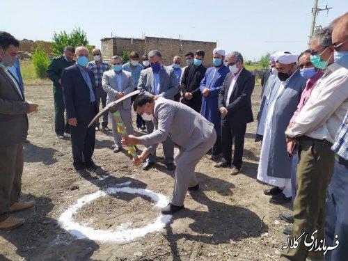 کلنگ احداث ساختمان مرکز جهاد کشاورزی دهستان کنگور به زمین زده شد