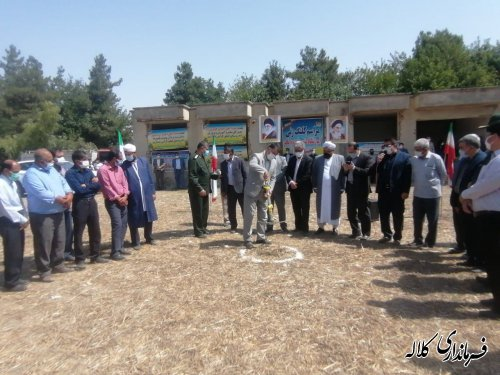 کلنگ احداث یک مدرسه دخترانه در روستای کنگور به زمین زده شد