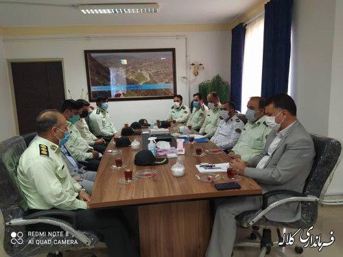 دیدار فرمانده انتظامی کلاله با فرماندار شهرستان