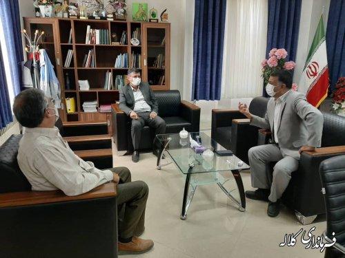 دیدار رییس سازمان جهاد کشاورزی استان با فرماندار کلاله