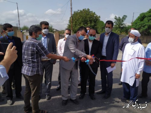 پروژه آسفالت روستای قراول کلاله افتتاح شد