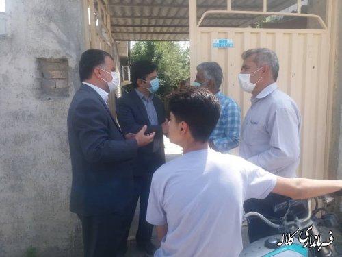 بازدید میدانی فرماندار کلاله از روستاهای شهرستان