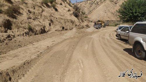 بازدید میدانی فرماندار کلاله پروژه زیر سازی جاده روستایی چیشت خواجه لر