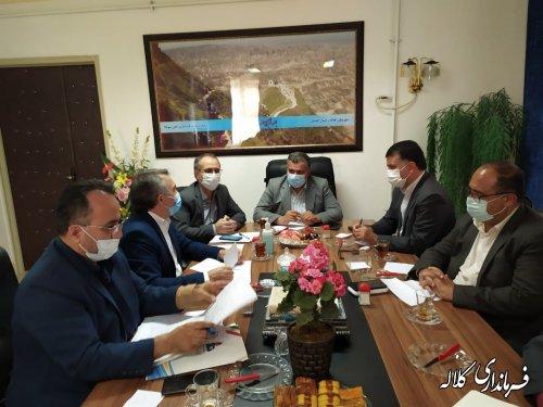 جلسه بررسی مشکلات گاز رسانی به مناطق محروم شرق استان گلستان