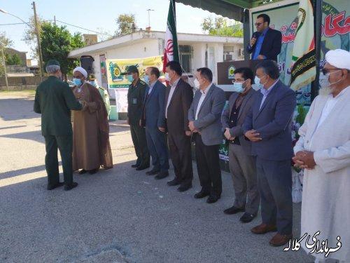 صبحگاه مشترک نیروهای انتظامی و نظامی کلاله بمناسبت هفته ناجا