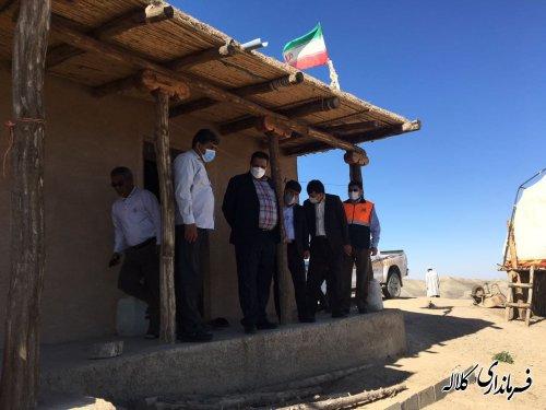 بازدید میدانی فرماندار کلاله از پروژه گردشگری روستای روشن دره